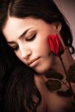 玫瑰色妇女 免版税图库摄影
