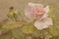 玫瑰色灰泥 库存照片