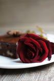 玫瑰色甜点 免版税库存图片