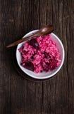 玫瑰色甜菜意大利煨饭 库存照片