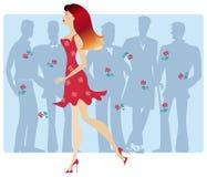 玫瑰色的礼服 免版税库存照片
