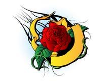 玫瑰色纹身花刺 免版税图库摄影