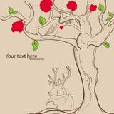 玫瑰色结构树 库存图片