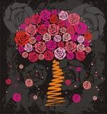 玫瑰色结构树 库存例证