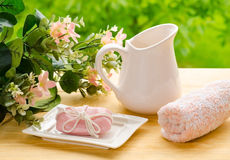 玫瑰色肥皂 免版税图库摄影