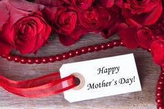玫瑰色背景为母亲节 免版税库存图片