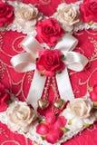 从玫瑰色花的心脏 库存图片