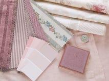 玫瑰色设计内部桃红色的计划 免版税库存照片