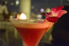 玫瑰色鸡尾酒 库存照片