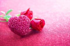 玫瑰色s华伦泰 图库摄影