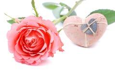玫瑰色s valentin 库存图片