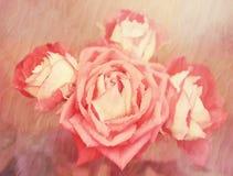 玫瑰花束 抽象背景构成守护程序黑暗的数字式幻想妖怪绘画正方形主题拖钓 免版税库存图片