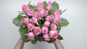 玫瑰花束 6 股票视频