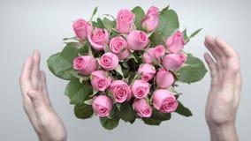 玫瑰花束 10 股票视频