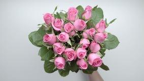 玫瑰花束 影视素材