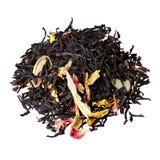 玫瑰花瓣、向日葵、杏仁和红茶的混合 库存图片