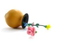 绘画玫瑰花瓶水彩 库存照片