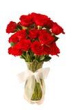 玫瑰花瓶 免版税库存照片