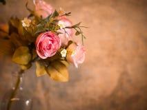 玫瑰花花束,静物画。 免版税库存照片