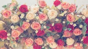 玫瑰葡萄酒花束婚姻的 库存照片