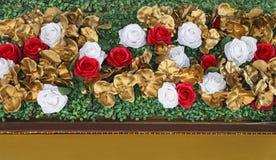 玫瑰装饰 免版税库存照片