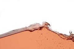 玫瑰酒红色飞溅-接近的抽象背景 库存照片