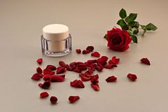 玫瑰,香水 免版税库存图片
