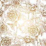 玫瑰2的无缝的样式 皇族释放例证