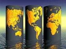 环境世界地球集合 免版税库存图片