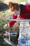 环境加拿大技术员 免版税库存照片