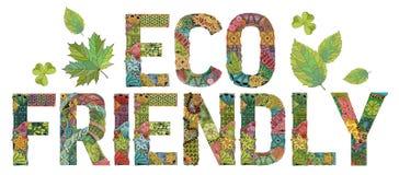 环境友好的词 传染媒介装饰zentangle对象 向量例证