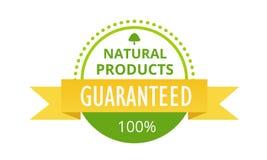 环境友好100保证了自然产品,食物市场,农场,生物标签 库存例证