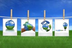 环境可能一起保护 免版税库存照片
