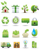 环境图标优质保护系列集 库存照片