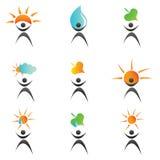环境图标徽标 库存图片