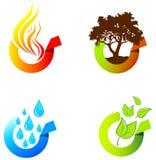 环境标签 免版税库存照片
