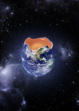 环境概念地球鸡蛋 免版税库存照片
