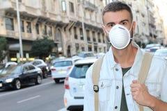 环境污染在欧洲城市 免版税库存图片
