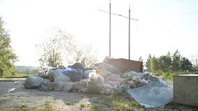 环境污染的概念由建筑的和塑料浪费人类活动 影视素材