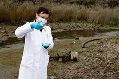 环境污染研究 免版税库存图片