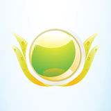环境绿色图标本质 免版税图库摄影