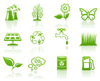 环境绿色图标集 库存图片