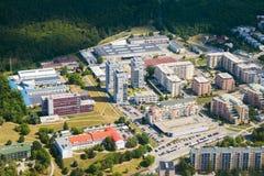 环境美化与公寓单元在捷克共和国的,增殖比城市 库存图片