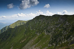 环境美化与在喀尔巴阡山脉的山土坎 免版税库存图片