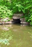 环境美化与池塘 免版税库存图片