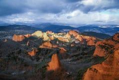 环境美化与美好和独特的红色岩层在Las Ma 图库摄影