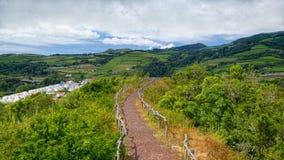 环境美化在圣地米格尔海岛,亚速尔群岛,葡萄牙上 库存图片