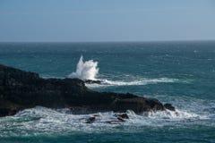环境美化在有波浪的Mizen头在大西洋海岸 图库摄影