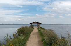 环境美化在湖duemmer在下部萨克森地区,德国 库存照片