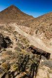 环境美化在Cabo del加塔角,阿尔梅里雅,西班牙 图库摄影